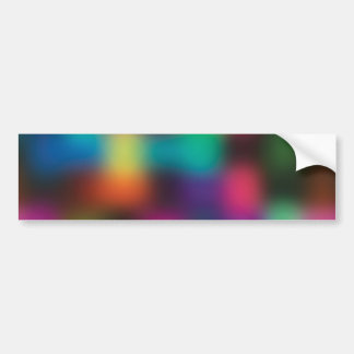 Color blur car bumper sticker