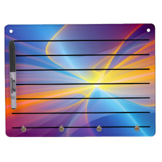 color bord dry erase board with keychain holder