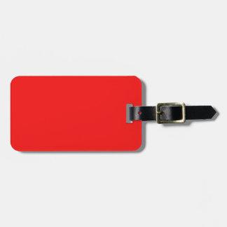 Color brillante de la moda del rojo cereza de neón etiqueta para maleta