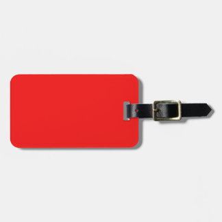Color brillante de la moda del rojo cereza de neón etiquetas maleta