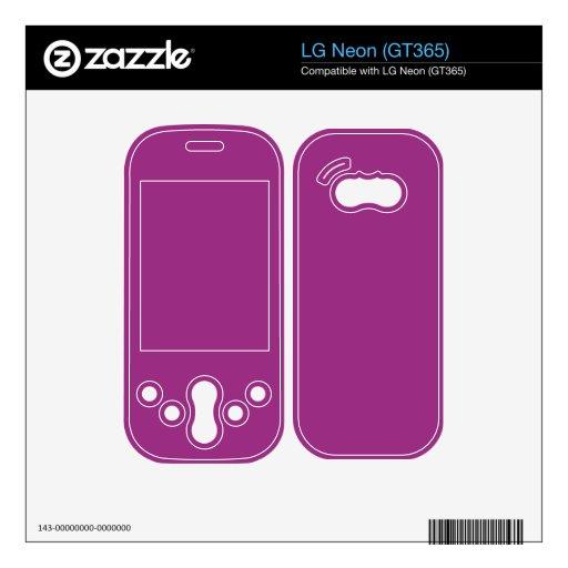 Color brillante de la púrpura de Fuschia Calcomanía Para El LG Neon