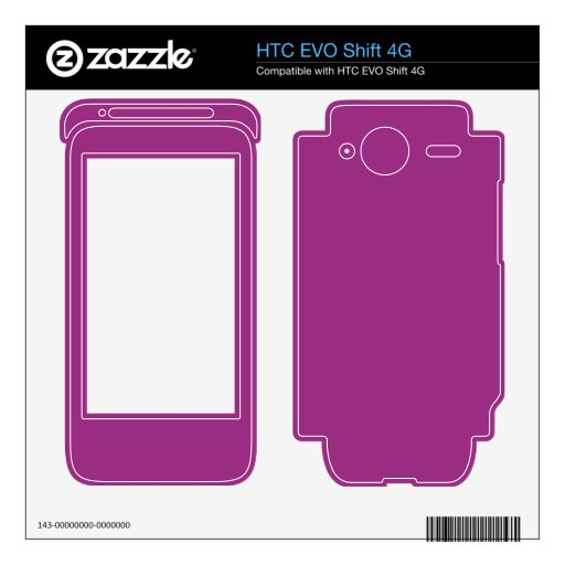 Color brillante de la púrpura de Fuschia HTC EVO Shift 4G Calcomanías