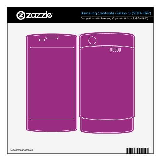Color brillante de la púrpura de Fuschia Samsung Captivate Calcomanía