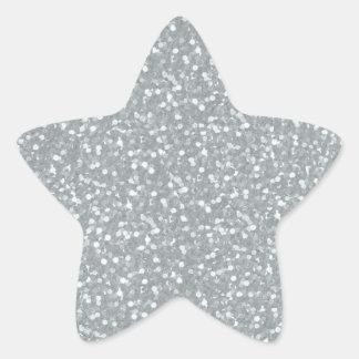 Color brillante del blanco de la plata de las chis calcomania forma de estrella personalizadas