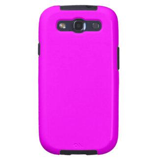 Color brillante ligero púrpura violeta de neón de galaxy s3 cobertura