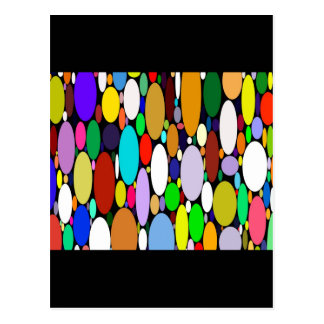 Color Bubbles Variety Digital Design Postcard