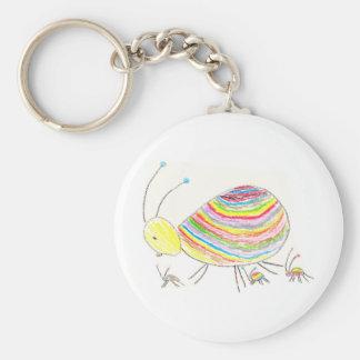 Color Bug Keyring Keychains