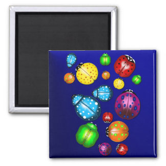 Color Bug Pillow 2 Inch Square Magnet