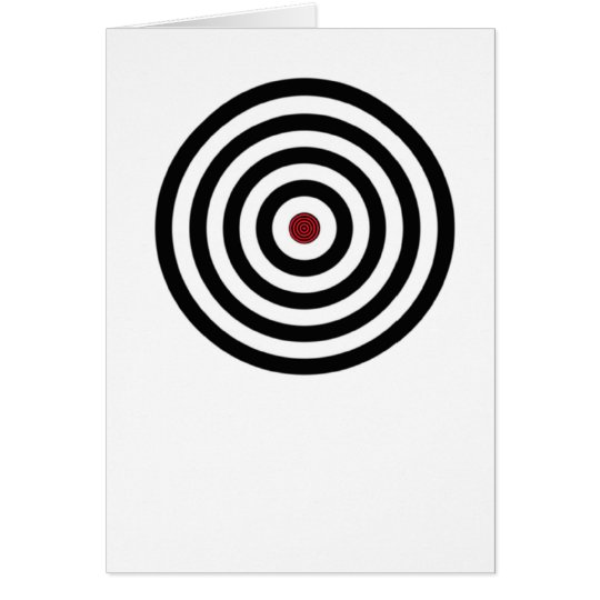 color- bulls eye card