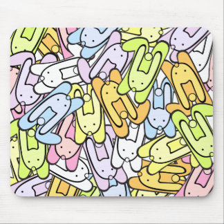 color bunnies mouse pad