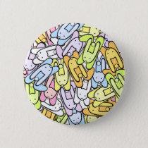 color bunnies pinback button