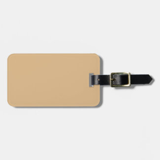 color burlywood luggage tag