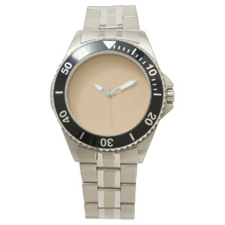 color burlywood wrist watch