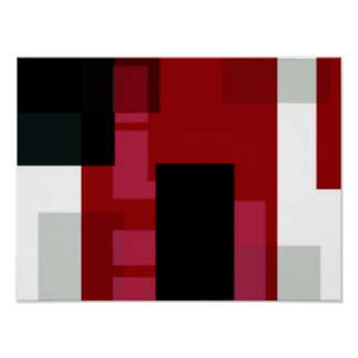 Color Burn Abstract Art Poster