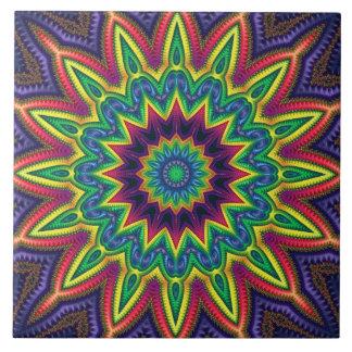 """Color Burst"" 6""x6"" Ceramic Tile"