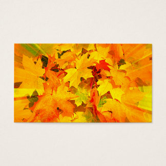 Color Burst of Fall Leaves Autumn Colors Business Card
