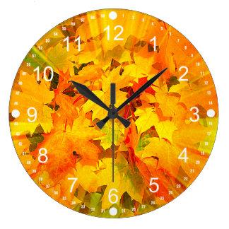 Color Burst of Fall Leaves Autumn Colors Wallclocks
