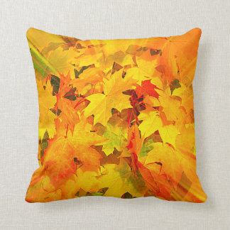 Color Burst of Fall Leaves Autumn Colors Pillow