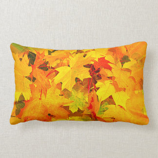 Color Burst of Fall Leaves Autumn Colors Pillows