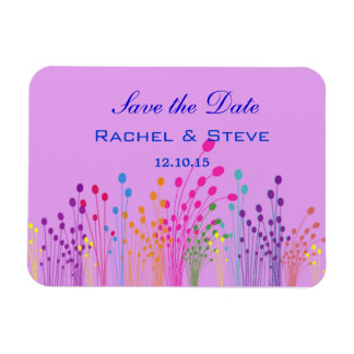 Color Burst Save the Date Wedding Magnet