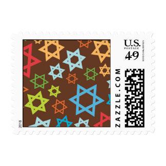 Color Burst Stars Postage Stamp