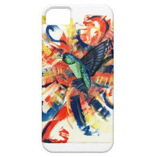 Color Bursts and Hummingbird iPhone SE/5/5s Case