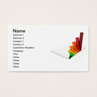 Color Business Chart Business Card