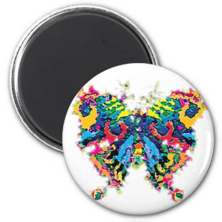 color.butterfly 2 inch round magnet