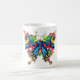 color.butterfly classic white coffee mug