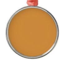 color butterscotch metal ornament