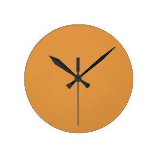color butterscotch round clock