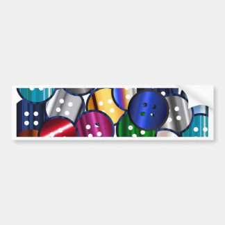 Color Button Collection Bumper Sticker