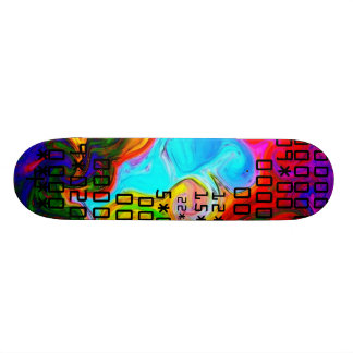 color by numbers skate board deck