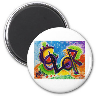 COLOR by Piliero 2 Inch Round Magnet