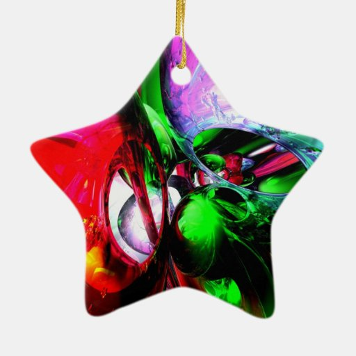 Color Carnival Abstract Double Sided Star Ceramic