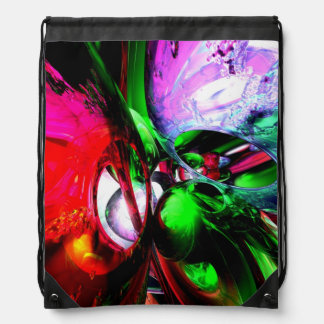 Color Carnival Abstract Cinch Bag