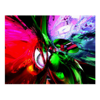 Color Carnival Abstract Postcard
