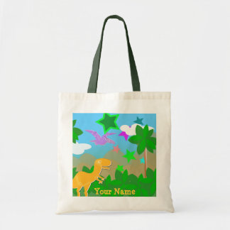 Color Cartoon Dinosaurs Jungle Bag