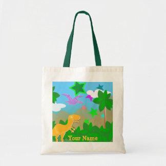 Color Cartoon Dinosaurs Jungle Bag