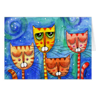 Color Cats - Greeting Card