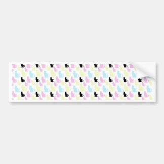 Color cats pattern car bumper sticker