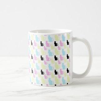 Color cats pattern coffee mug