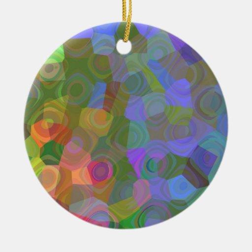 Color Celebration Ceramic Ornament