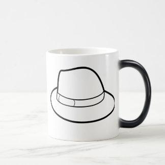 Color Changing Heat Sensitive Fedora Hat Mug Mug