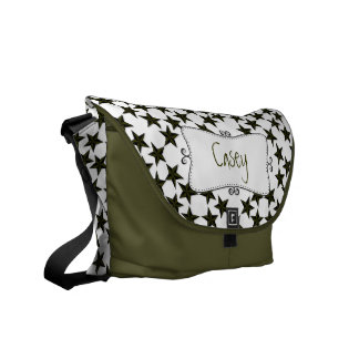 Color Changing Stars Monogrammed Courier Bag