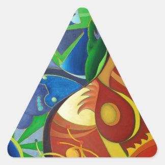Color Chaos Triangle Sticker