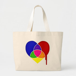 color chart heart large tote bag