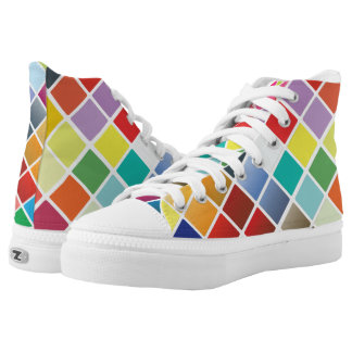 Color Chart High-Top Sneakers
