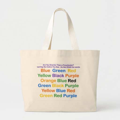 Color Chart Science Optical Illusions Canvas Bags