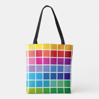 color chart texture pattern background code palett tote bag